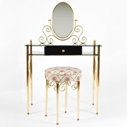 The image for Black Glass And Brass Dressing Table 01