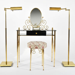The image for Black Glass And Brass Dressing Table 04