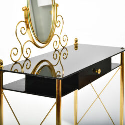 The image for Black Glass And Brass Dressing Table 06