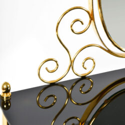 The image for Black Glass And Brass Dressing Table 07