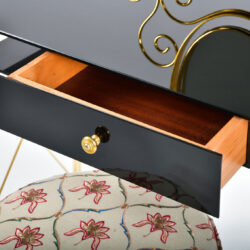 The image for Black Glass And Brass Dressing Table 08