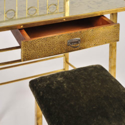 The image for Brass Dressing Table And Stool 04 Vw