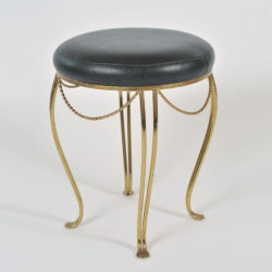 The image for Brass Stool Leather Seat 02