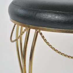 The image for Brass Stool Leather Seat 04