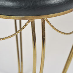 The image for Brass Stool Leather Seat 05