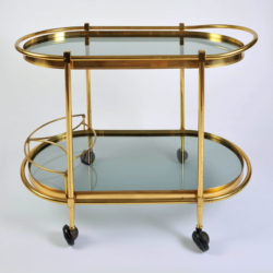 The image for Brass Trolley Smoked Glass 01