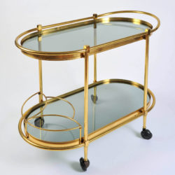 The image for Brass Trolley Smoked Glass 02