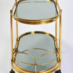 The image for Brass Trolley Smoked Glass 03