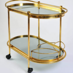 The image for Brass Trolley Smoked Glass 04