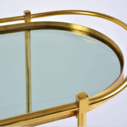 The image for Brass Trolley Smoked Glass 05