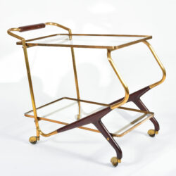 The image for Brass And Mahogany Trolley 02