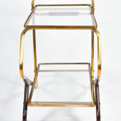 The image for Brass And Mahogany Trolley 03