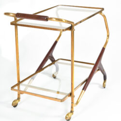 The image for Brass And Mahogany Trolley 04