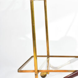 The image for Brass And Mahogany Trolley 05