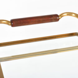The image for Brass And Mahogany Trolley 08