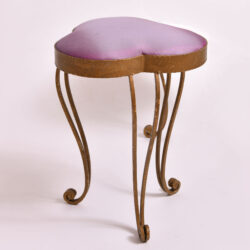 The image for Brass Stool Purple Velvet 01