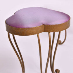 The image for Brass Stool Purple Velvet 02