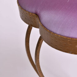 The image for Brass Stool Purple Velvet 04