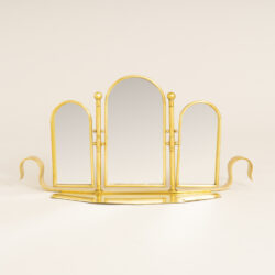 The image for Brass Triple Dt Mirror 0358