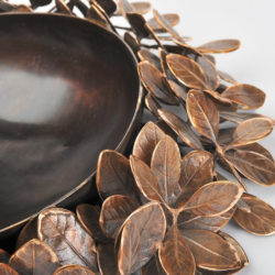 The image for Cast Bronze Leaf Bowl 02