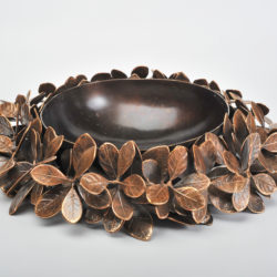 The image for Cast Bronze Leaf Bowl 03