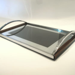 The image for Chrome Wood Tray 02