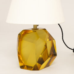 The image for Glass Base Lamp Amber 0439