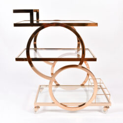 The image for Gold American Drinks Trolley 01