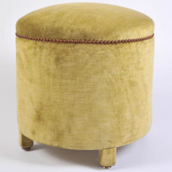 The image for Green Yellow Upholstered Stool 02