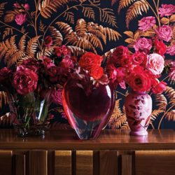 The image for Heart Vase Floral Wallpaper