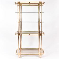 The image for Hollywood Regency Brass Shelves 01