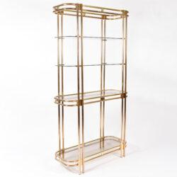 The image for Hollywood Regency Brass Shelves 02