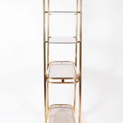 The image for Hollywood Regency Brass Shelves 03