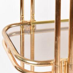 The image for Hollywood Regency Brass Shelves 05
