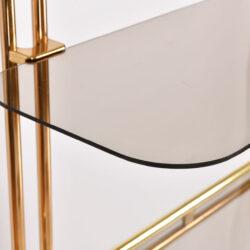 The image for Hollywood Regency Brass Shelves 06