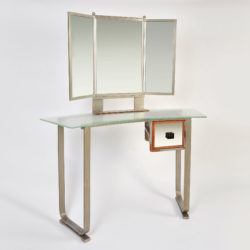 The image for Italian Glass Chrome Dressing Table 01