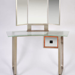 The image for Italian Glass Chrome Dressing Table 02Ajpg