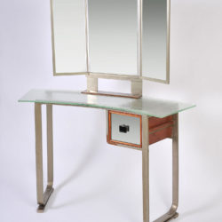 The image for Italian Glass Chrome Dressing Table 03Ajpg