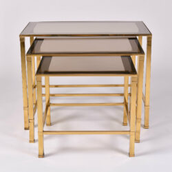 The image for Italian Nest Brass Side Tables 01