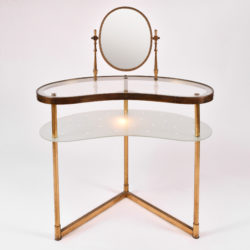 The image for Italian Dressing Table Oval Mirror 01