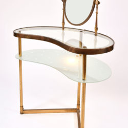 The image for Italian Dressing Table Oval Mirror 02