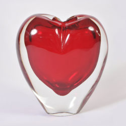 The image for Large Red Heart Vase 01