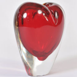The image for Large Red Heart Vase 02
