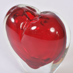The image for Large Red Heart Vase 03