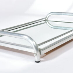 The image for Large Chrome Mirrored Tray 03