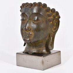 The image for Modern Bronze Buddha Head 02