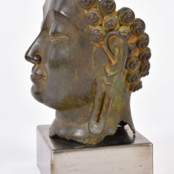 The image for Modern Bronze Buddha Head 03