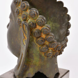 The image for Modern Bronze Buddha Head 05