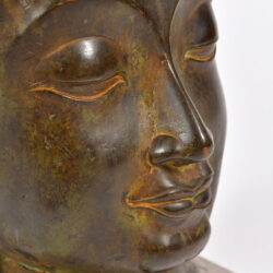 The image for Modern Bronze Buddha Head 06