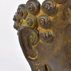 The image for Modern Bronze Buddha Head 07